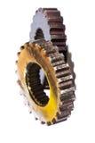 Industrial metal gears Stock Photo