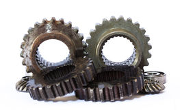 Industrial metal gears Royalty Free Stock Photography
