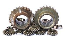 Industrial metal gears Royalty Free Stock Image
