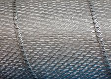 Industrial metal grid closeup texture background,. Industrial metallic grid, macro texture background Royalty Free Stock Images