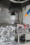 Industrial metal machining cutting process of automotive parts b Royalty Free Stock Images