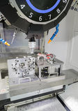 Industrial metal machining cutting process of automotive parts b Royalty Free Stock Image