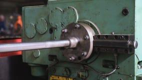 Industrial metal machining. 4K factory stock video footage