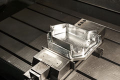 Industrial metal mold blank. CNC technology. royalty free stock images