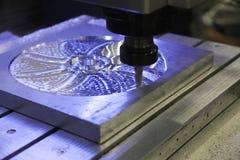 Industrial metal mold/blank milling. Stock Image