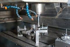 Industrial metal mold/blank milling. Metalworking. royalty free stock photo