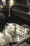 Industrial metal mold milling. Metalworking. Royalty Free Stock Photos