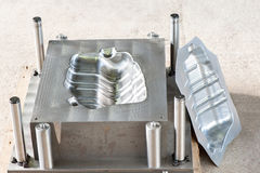 Industrial metal mold with ready iron form/matrix. royalty free stock photography