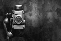 Industrial metal phone Stock Images