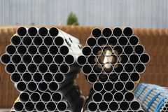 Industrial metal pipes Royalty Free Stock Photography