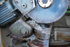 Industrial metal saw Royalty Free Stock Images