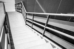 Industrial metal staircase perspective Stock Images