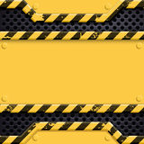 Industrial metal technology background. Danger sign. Stock vecto Stock Images