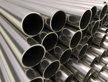 Industrial metal tubes Stock Photo