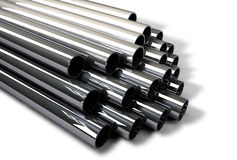 Industrial Metal Tubes Royalty Free Stock Photos