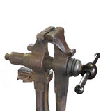 Industrial metal vise isolated. Royalty Free Stock Photography