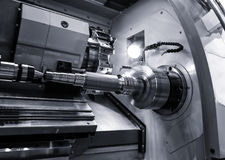 Free Industrial Metal Work Bore Machining Process By Cutting Tool On Automated Lathe Stock Photography - 96601232