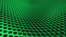 Industrial Metall Steel Iron Holes Pattern Sieve Green perspective DOF royalty free illustration
