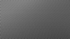 Industrial Metall Steel Iron Holes Pattern Sieve Isometric Silver stock image