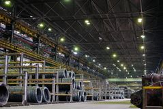 Industrial metallurgical storehouse Stock Photography