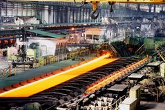 Industrial metallurgy. Shop of hot and cold rolling of pipes Stock Images