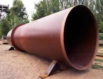 Industrial metallurgy. Special-application products. Pipes industries Royalty Free Stock Images