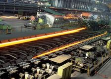 Industrial metallurgy. Shop of hot and cold rolling of pipes Royalty Free Stock Image