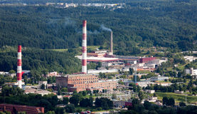 Industrial microdistricts in Vilnius Royalty Free Stock Photo