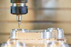 Industrial milling machine tool with mill Royalty Free Stock Photography