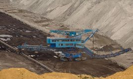 Industrial mining machine in mine Stock Photography