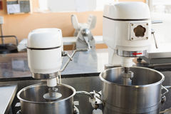 Industrial mixers on counter Stock Photography