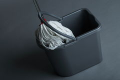 Industrial mop and bucket Royalty Free Stock Photography
