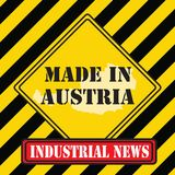 Made in Austria yellow symbol Stock Photos