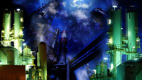 Industrial night Royalty Free Stock Image
