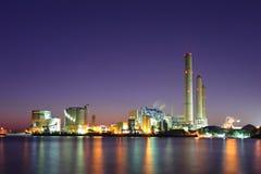 industrial night plant Στοκ Εικόνες