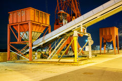 Industrial Night Scene Stock Image