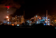 Industrial night view Stock Photo