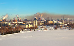 Industrial Nizhny Tagil. View from Bald Fox mountains. Royalty Free Stock Images