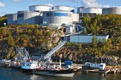 Industrial oil buildings Stock Photo