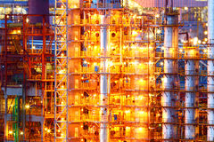 Industrial oil chemical factory Royalty Free Stock Photos