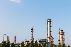 Industrial oil petrochemical factory. Industrial of oil petrochemical factory Royalty Free Stock Photos