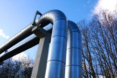 Industrial oil pipeline Royalty Free Stock Photography