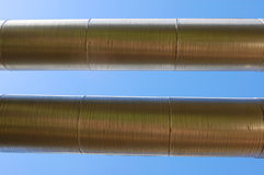 Industrial oil pipeline Stock Photos