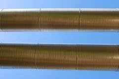 Industrial oil pipeline Stock Photos