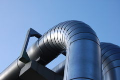Industrial oil pipeline Royalty Free Stock Photos