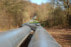 Industrial oil pipeline Stock Photography