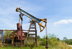 Industrial oil pump Royalty Free Stock Images