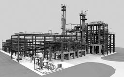 Industrial oil refinery Royalty Free Stock Image