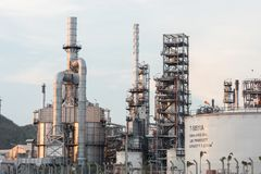 Industrial at oil refinery plant royalty free stock photography