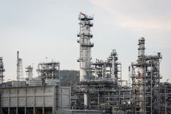 Industrial at oil refinery plant royalty free stock images
